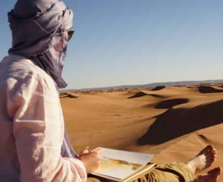 Karen Tricoire : «Mes treks dans le désert marocain suivent l'état d'esprit de la formation en naturopathie.»